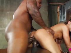 Adriana in huge black cock anal gangbang