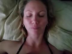 Brunette milf strips and fucks boyfriend