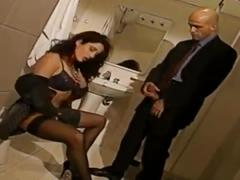 Erika bella anal in black stockings