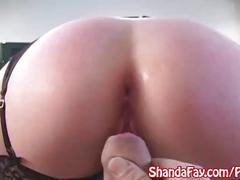 Kinky canadian milf shanda fay gets anal cream pie in stockings!