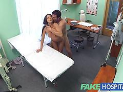 Couple fuck in empty doctors office