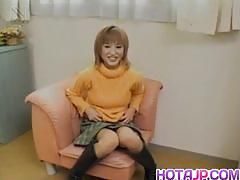 Japanese amateur throat fucks this hard cock