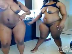 Two sexy thickalicious big booty ebony babes