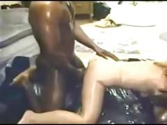 amateur, interracial, vintage, threesome, interacial, cuckold, wife, home, cock-sucking, oral, blowjob, bj, bbc, shaved-pussy, creampie, stocking