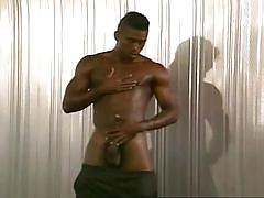 ebony, solo, undressing, muscled, gay black, gay masturbation, big black dick, bbc, ebony clubz, michael long