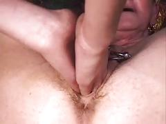 My sexy piercings - heavy pierced nasty granny bdsm play