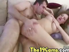 Stepdaddy caught step daughter masturbate and fuck her