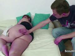 Step-son caught stepmom naked and fuck her anal and cum