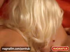 Mia magma-blonde german threesome