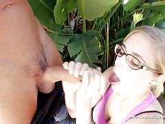 Dazzling penny pax swallows this hard dick