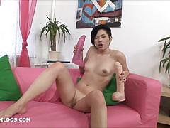 Seductive babe dildo fucks her moist slot