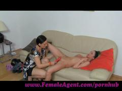 Femaleagent. licking for work