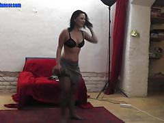 Czech lap dancer loves to tease