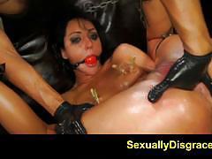 Kinky sabrina banks gets her pussy machine fucked