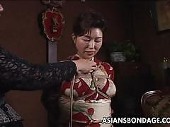 Mature asian bound in bdsm