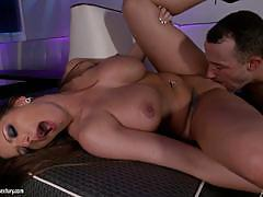 Brooklyn chase bounces on his big cock