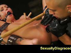 sabrina banks, blowjob, suck, facial, creampie, bdsm, bondage, leather, toys, dildo, slave, gagging, gag, fetish, deepthroat, domination, humiliation, chains, sybian, submission