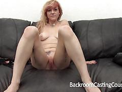 blowjob, swallow, anal, handjob, redhead, audition, casting couch, tattooed