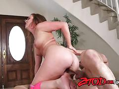 Seductive maddy oreilly rides this hard dick