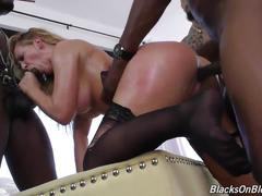 Posh white mom cherie suck and fuck several black cocks