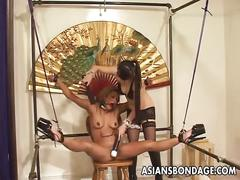bondage, fetish, toys, japanese, asiansbondage, bdsm, adult-toys, jav, nipple-clamps, dildo, vibrator, blonde, lesbian, tied, bound