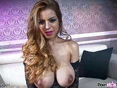 Hot lustful busty babe yurizan beltran strips off