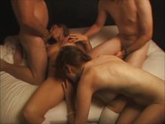 3 people do bigtit milf she cums crying like slut in heat
