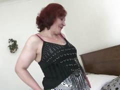 Real granny with fat ass and thirsty old cunt