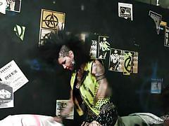 Naughty punk lesbians get dirty