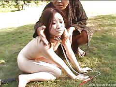 Japanese slaves humiliated outdoors