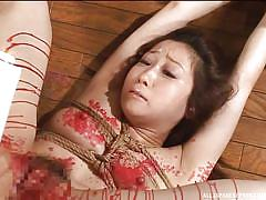 babe, japanese, punishment, domination, censored, candle, wierd, hot wax, rope bondage, wierd japan, all japanese pass