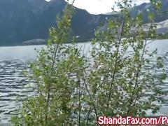 Kinky canadian milf shanda fay blows hitch hiker outside!