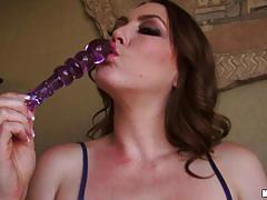 Megan loxx uses dildo to please her pussyhole