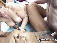 blowjob, doggystyle, older, black, ebony, interracial, threesome, casting, mature, swingers, amateur