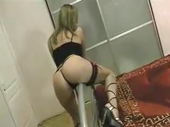 Well built ass on this stunning german girl who sucks it good