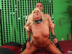 big tits, euro, european, doggy-collar, big-tits, blonde, babe, heels, ball-gag, tattoos, doggystyle, shaved-pussy, pussy-eating