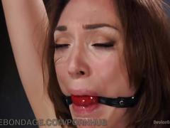 bondage, fetish, hardcore, rough sex, blonde, devicebondage, kink, natural-tits, bdsm, extreme, device, metal, gagged, dungeon, domination, chain, suspension, torment, punish, orgasm