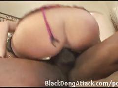 Blonde takes a bbc anal