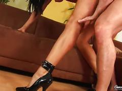 hardcore, euro, european, raven, heels, czech, teasing, natural-tits, licking-pussy, blowjob, fingering, cowgirl, standing-sex, rimming, doggy-style, 69, piledriver, cum-in-mouth