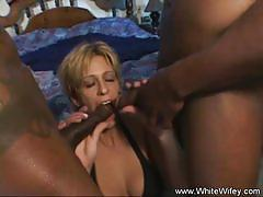 White wifey interracial anal dp