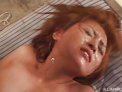 Horny japanese slut wants to drown in cum