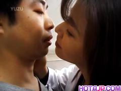 Yuko tachibana has cum pouring from mouth after sucking bone