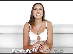 Myveryfirsttime - natasha novo takes two dicks for the first time