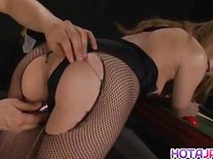 All japanese pass filling her pussy and ass wi...