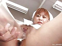Cute nurse gets her cunt injected