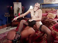 lesbians, spanking, big tits, interracial, whipping, lesbian domination, eating pussy, ebony babe, blonde babe, whipped ass, kink, lisa tiffian, mona wales