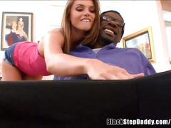 White slut fucking not her black stepdad