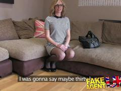 Fakeagentuk sexy blonde milf takes it from behind