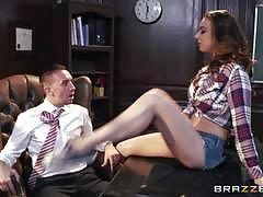tiffany tyler, keiran lee, brunette, blowjob, cumshot, facial, teacher, student, busty, shaved, office, table, reverse cowgirl, cowgirl, classroom, sucking, licking pussy