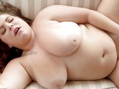 Chubby big tits solo